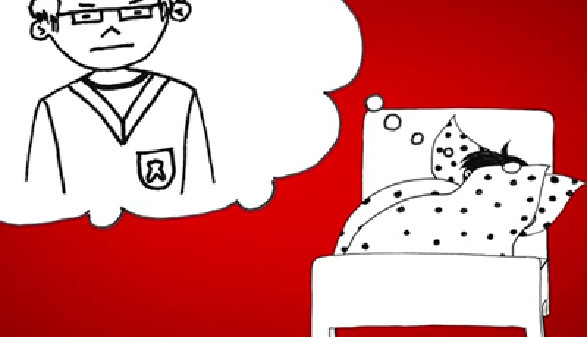 Comic: Ein Lehrling hat Alpträume © News on Video, News on Video