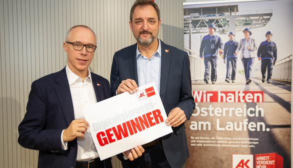 AK-Direktor Mag. Thomas Lehner und AK-Präsident Gerhard Michalitsch © Roman Felder, AK Burgenland