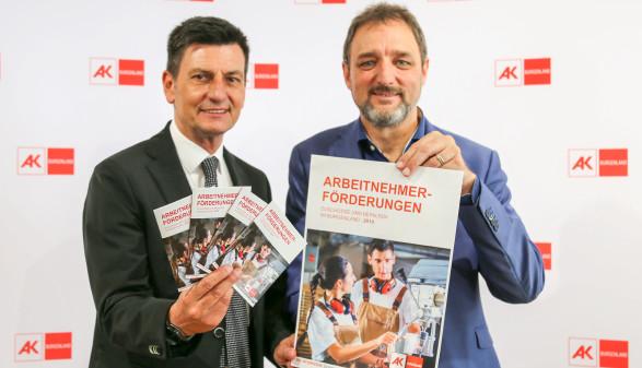 Arbeitsmarktlandesrat Christian Illedits und AK-Präsident Gerhard Michalitsch © Werfring, AK Burgenland